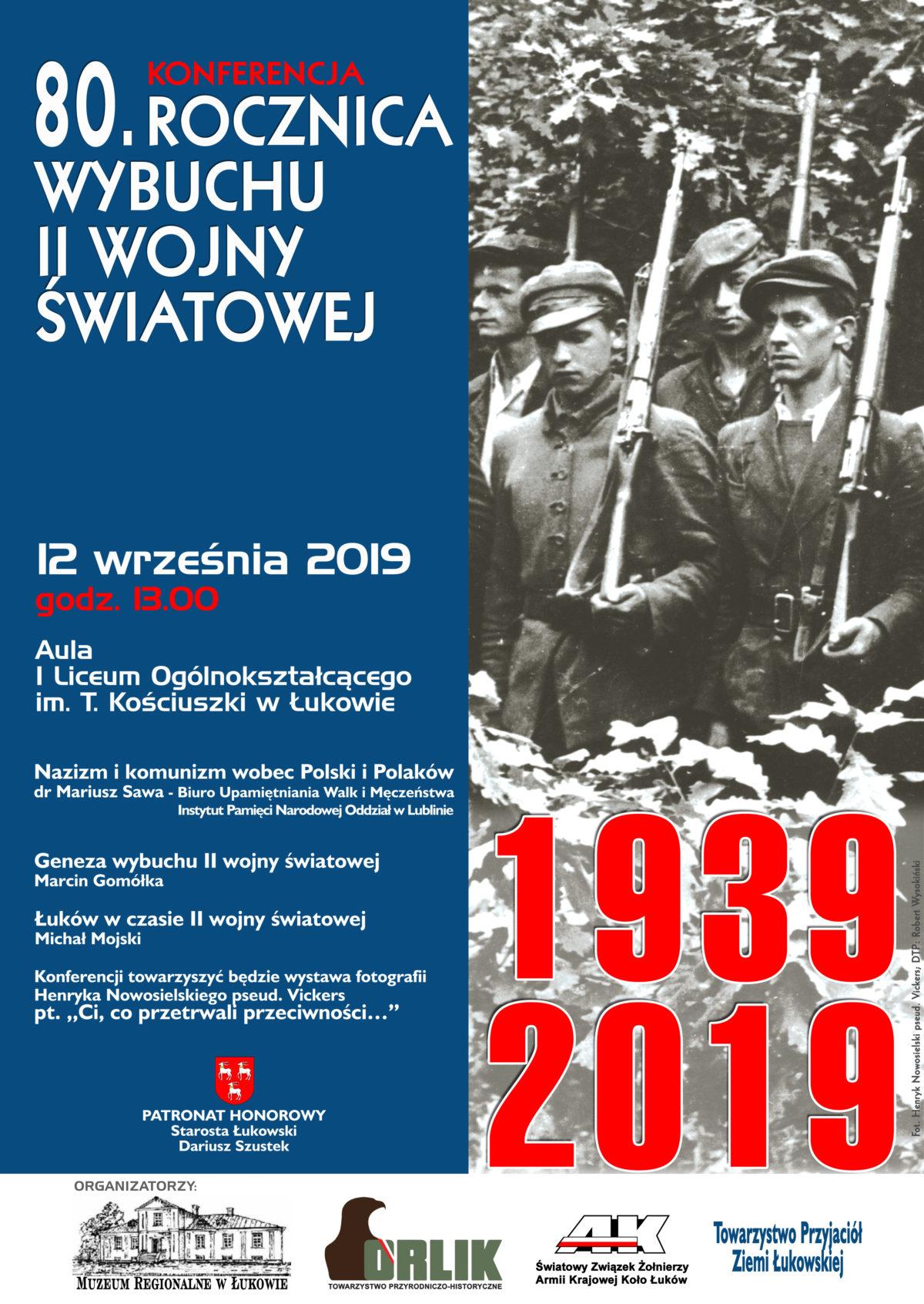Konferencja historyczna z okazji 80. rocznicy wybuchu II wojny światowej